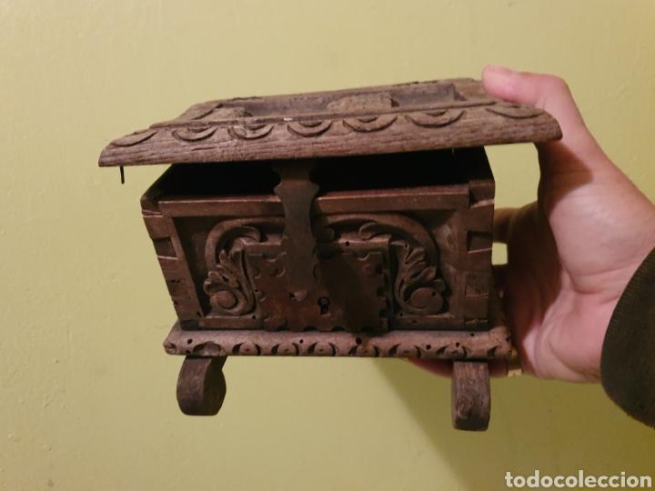 Antigüedades: ARCA COFRE JOYERO PARA RESTAURAR S.XVII - Foto 10 - 195146553