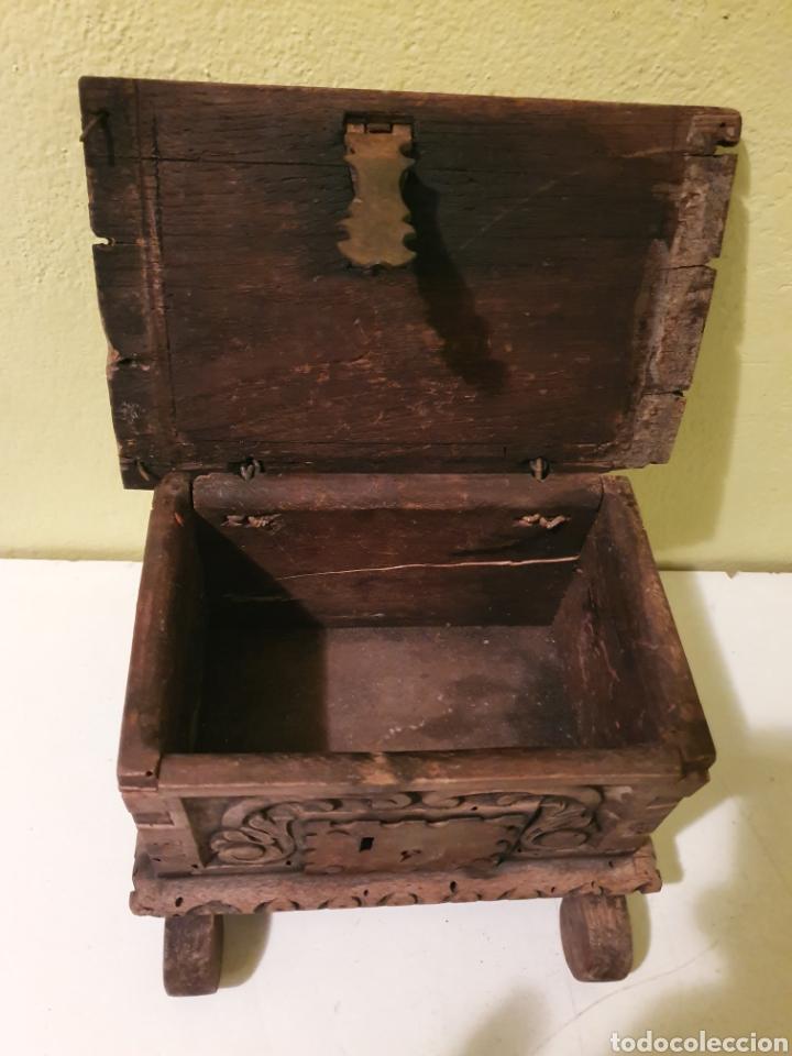 Antigüedades: ARCA COFRE JOYERO PARA RESTAURAR S.XVII - Foto 11 - 195146553