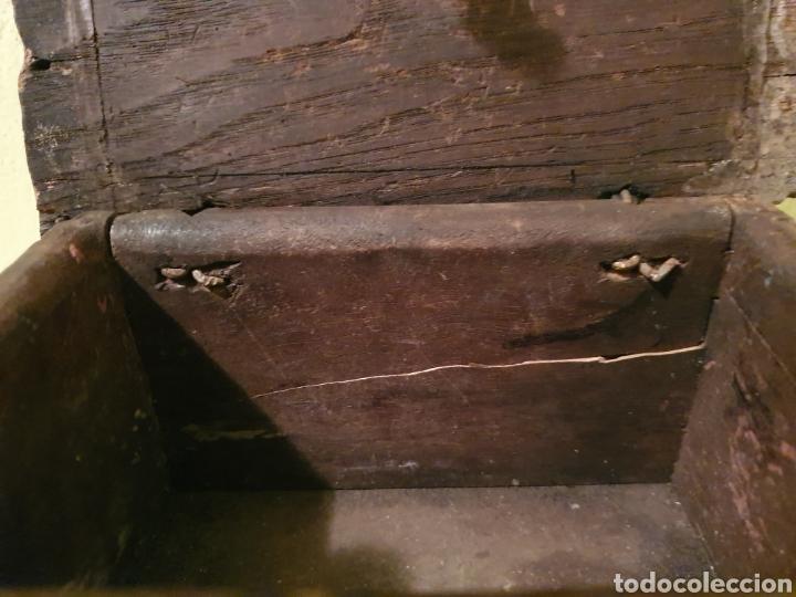 Antigüedades: ARCA COFRE JOYERO PARA RESTAURAR S.XVII - Foto 12 - 195146553