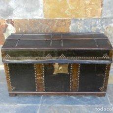 Antigüedades: BAUL DE CUERO PRINC. S.XX. Lote 195150277