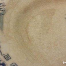 Antigüedades: BANDEJA CHINA OPACA.(30 ×22CM)LA ASTURIANA (GIJÓN ) MARIANO POLA.. Lote 195154752