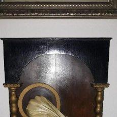 Antigüedades: BENDITERA EN MADERA. Lote 195159087