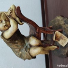 Antigüedades: NIÑA DORMIDA DE 1900. Lote 195170403