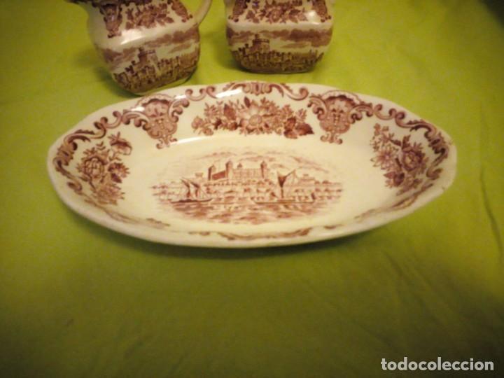 Antigüedades: Lote de 3 piezas de porcelana enoch wedwood(tunstall) royal homes of britain england - Foto 2 - 195170511