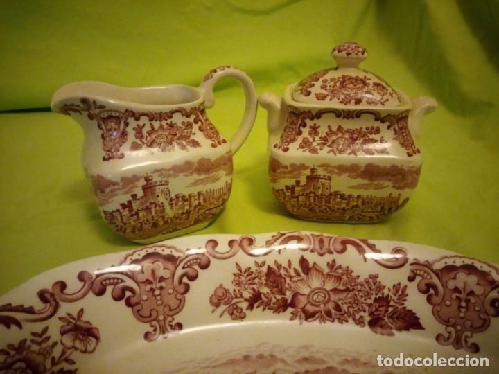 Antigüedades: Lote de 3 piezas de porcelana enoch wedwood(tunstall) royal homes of britain england - Foto 3 - 195170511