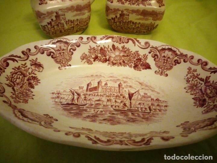Antigüedades: Lote de 3 piezas de porcelana enoch wedwood(tunstall) royal homes of britain england - Foto 4 - 195170511
