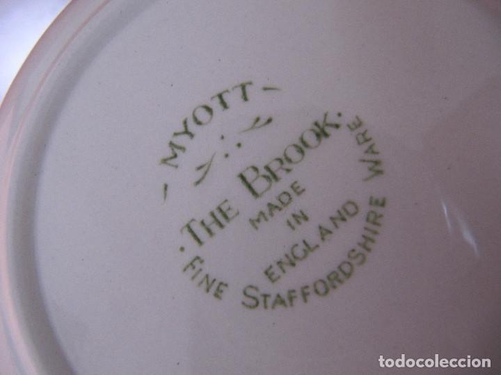 Antigüedades: PLATO BOL MYOTT THE BROOK MADE IN ENGLAND FINE STAFFORDSHIRE WARE - Foto 5 - 195175591