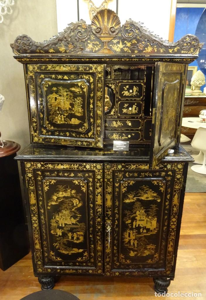 CABINET CHINO, S.XVIII, LACADO Y DORADO (Antigüedades - Muebles Antiguos - Armarios Antiguos)