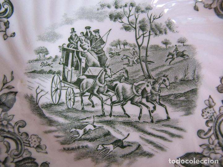 Antigüedades: PLATO BOL Porcelana inglesa Johnson Bros. Coaching scenes - Foto 2 - 195176126
