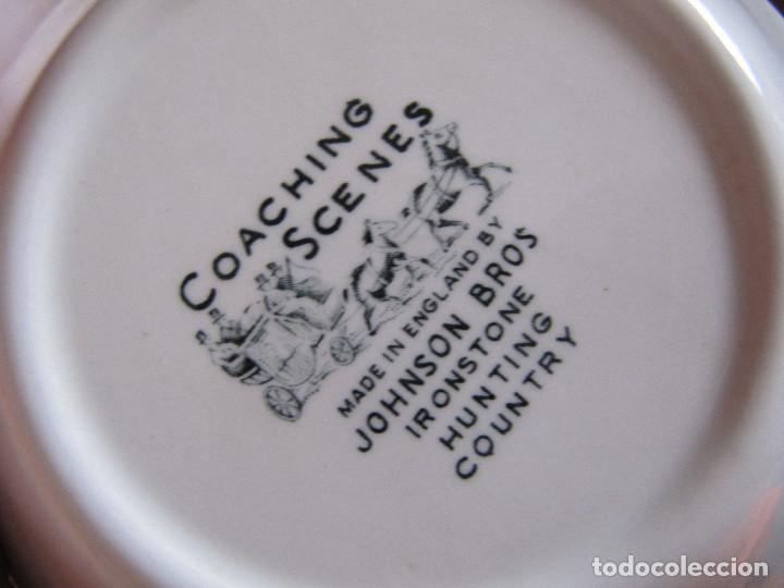 Antigüedades: PLATO BOL Porcelana inglesa Johnson Bros. Coaching scenes - Foto 5 - 195176126