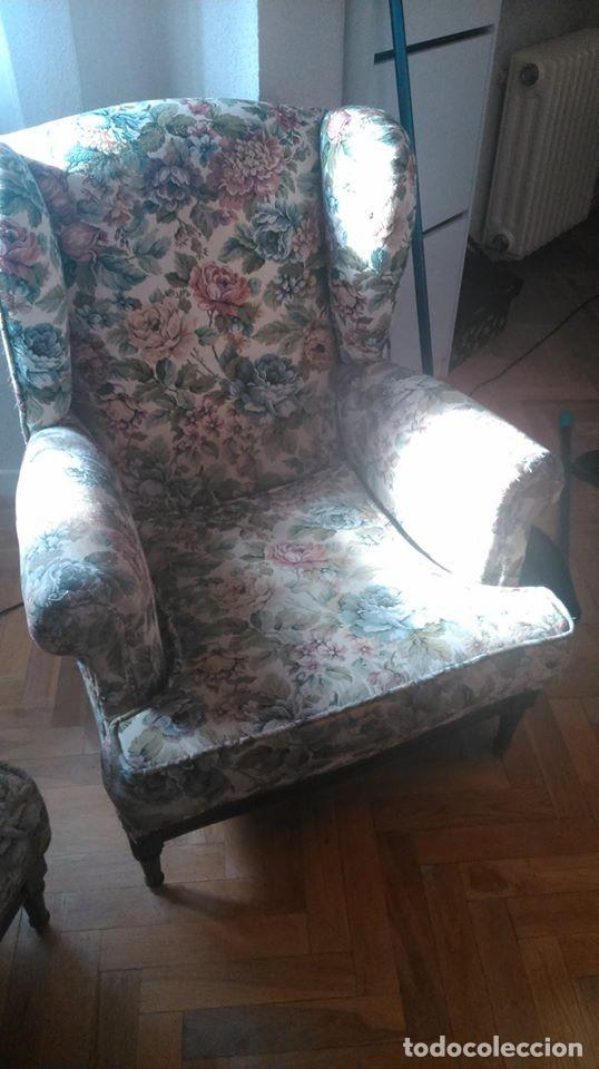 Antigüedades: 2 sillones orejeros antiguos de 1960 - Foto 4 - 195176450