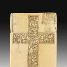 Antigüedades: TARJETERO ORIENTAL. MARFIL. SIGLO XIX.. Lote 195177420