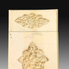 Antigüedades: TARJETERO ORIENTAL. MARFIL. SIGLO XIX.. Lote 195177715