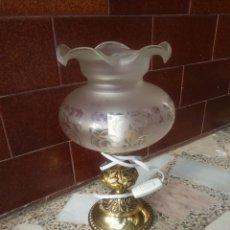 Antigüedades: LAMPARA ANTIGUA DE MESITA. Lote 195178043