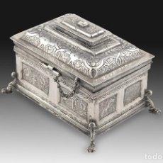 Antigüedades: ARQUETA INSPIRADA EN MODELOS DEL SIGLO XVII. PLATA. ESPAÑA, SIGLO XX. . Lote 195180485