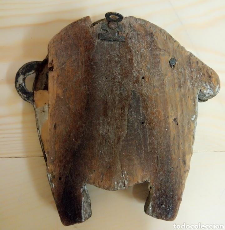 Antigüedades: Antiguo marco herradura metal y madera - Foto 2 - 195182992
