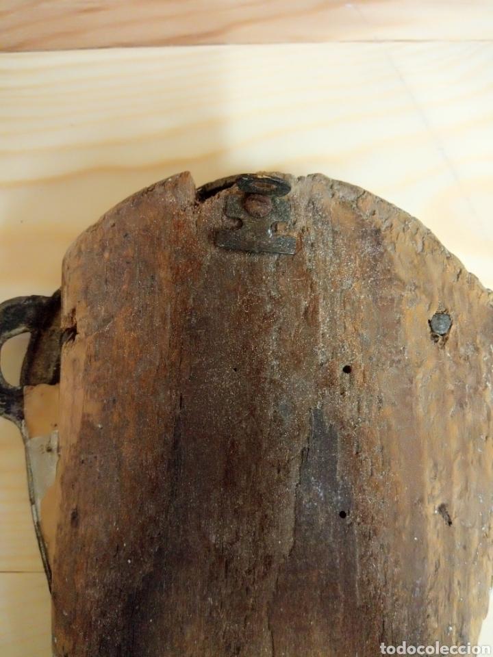 Antigüedades: Antiguo marco herradura metal y madera - Foto 5 - 195182992