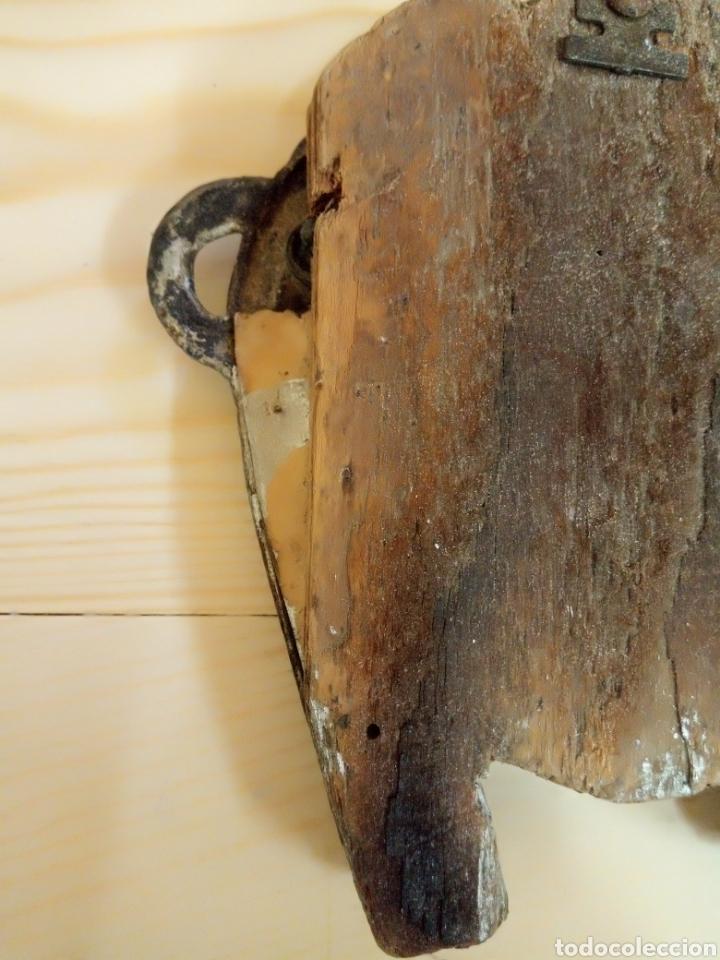 Antigüedades: Antiguo marco herradura metal y madera - Foto 6 - 195182992