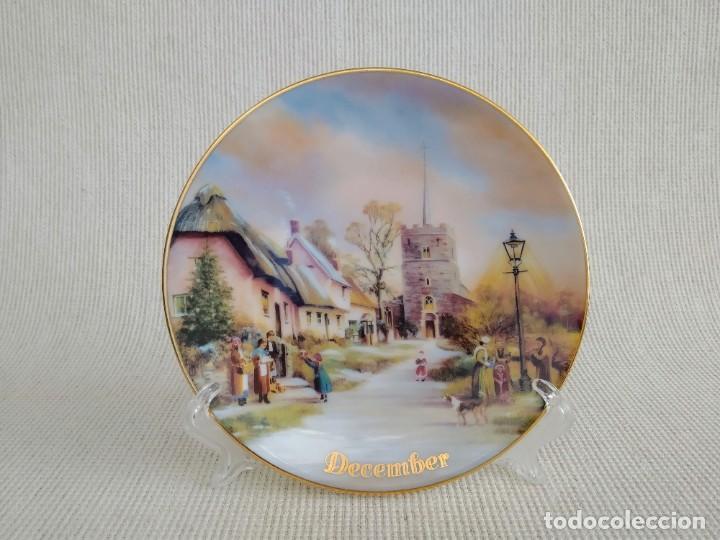 Antigüedades: Rebajas! Colección de platos de 12 piezas, son 12 meses, Davenport! - Foto 4 - 195196645