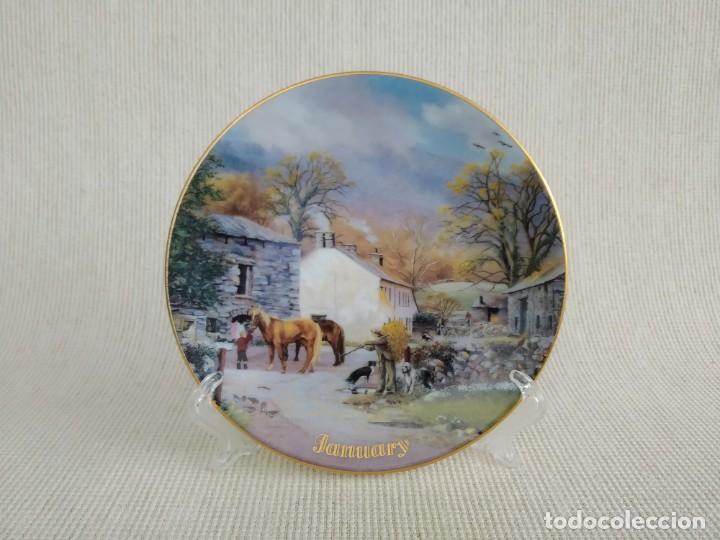 Antigüedades: Rebajas! Colección de platos de 12 piezas, son 12 meses, Davenport! - Foto 5 - 195196645