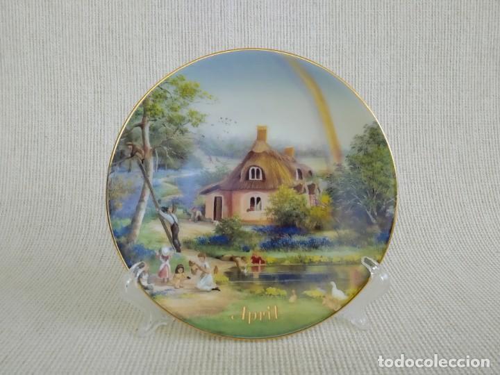 Antigüedades: Rebajas! Colección de platos de 12 piezas, son 12 meses, Davenport! - Foto 6 - 195196645