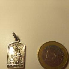 Antigüedades: MEDALLA PLATEADA - MARIA, JOSÉ Y JESÚS. Lote 195200522