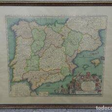 Antigüedades: FACSÍMIL DEL MAPA GENERAL DE LOS REINOS DE ESPAÑA Y PORTUGAL . Lote 195203036