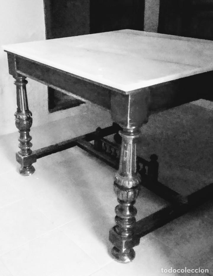 Antigüedades: Antigua mesa Alfonsina - Foto 7 - 194197943