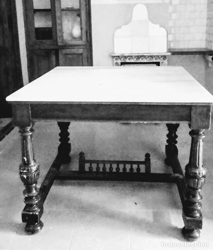 Antigüedades: Antigua mesa Alfonsina - Foto 8 - 194197943