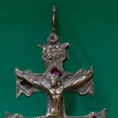 Antigüedades: ANTIGUA GRAN CRUZ DE CARAVACA S. XVIII.. Lote 195182955