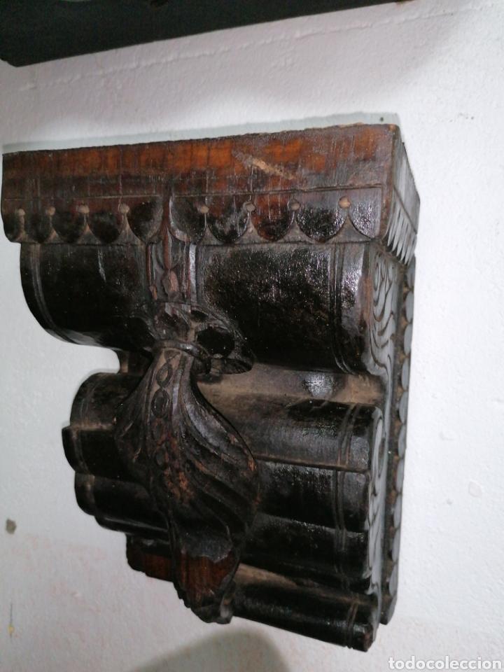 MÉNSULAS DE MADERA DE TEKA (Antigüedades - Muebles Antiguos - Ménsulas Antiguas)
