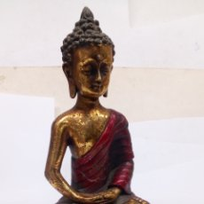 Antigüedades: FIGURA DE BUDA RESINA. Lote 195208401
