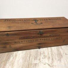 Antigüedades: CAJA MADERA HILOS FABRA Y COATS DESPLEGABLE. Lote 195208720