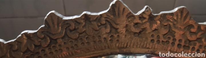 Antigüedades: Espejo de bronce con forma de abanico - Foto 8 - 195208750
