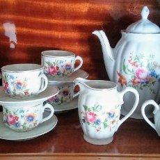 Antigüedades: JUEGO DE CAFE COMPLETO MAH VIGO SANTA CLARA. Lote 195214541