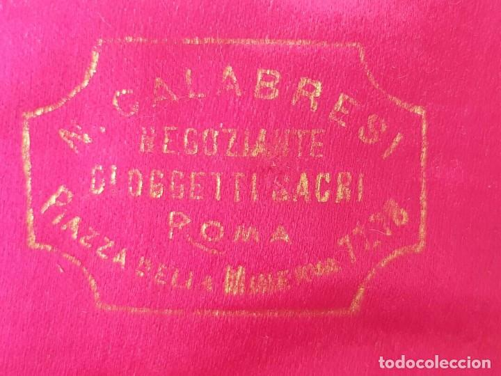 Antigüedades: ANTIGUO ROSARIO PIEDRAS CUENTAS COLOR AMBAR CON CRUZ CRISTO IGLESIA CON CAJA CALABRESI ROMA JOYERIA - Foto 9 - 195215413