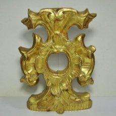 Antigüedades: ANTIGUO RELICARIO. S.XVIII. TALLA DE MADERA, ESTUCO Y PAN DE ORO.. Lote 195217808