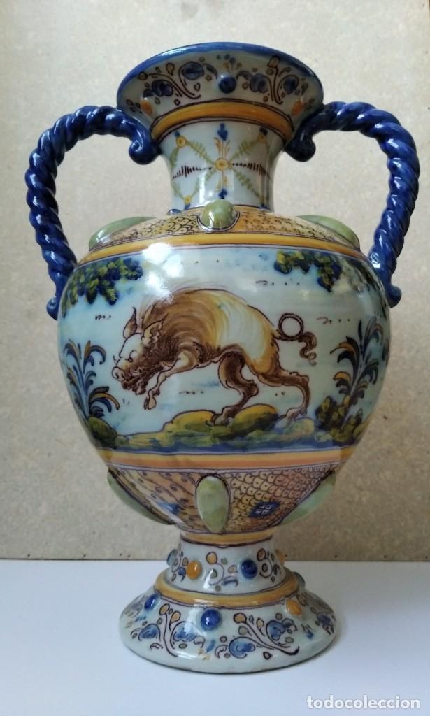 JARRON RUIZ DE LUNA - TALAVERA (Antigüedades - Porcelanas y Cerámicas - Talavera)