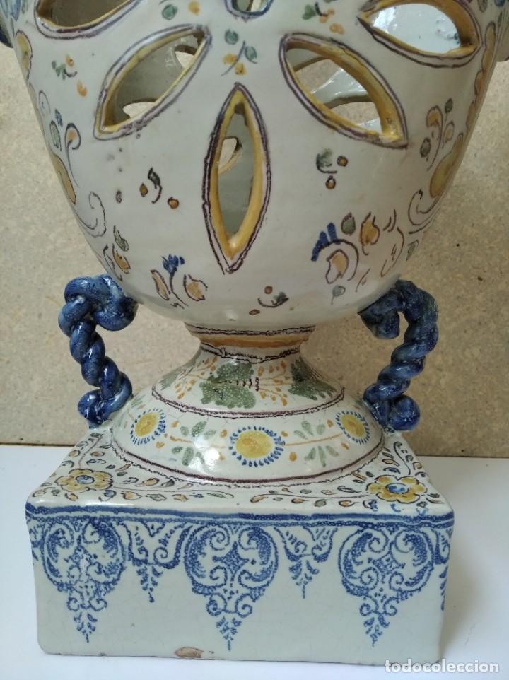 Antigüedades: JARRON PORTAVELAS - TALAVERA HENCHE - Foto 2 - 195221061