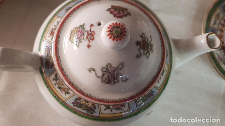 Antigüedades: TETERA AZUCARERA JARRITA Y TAZA CON SUS CORRESPONDIENTES PLATOS AÑOS 80 - Foto 8 - 195223843