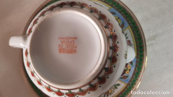 Antigüedades: TETERA AZUCARERA JARRITA Y TAZA CON SUS CORRESPONDIENTES PLATOS AÑOS 80 - Foto 15 - 195223843