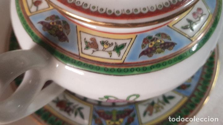 Antigüedades: TETERA AZUCARERA JARRITA Y TAZA CON SUS CORRESPONDIENTES PLATOS AÑOS 80 - Foto 21 - 195223843