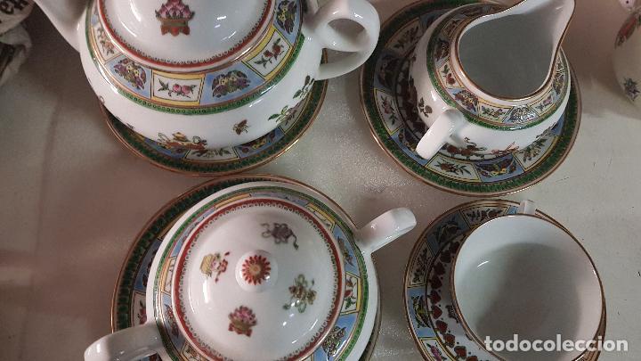 TETERA AZUCARERA JARRITA Y TAZA CON SUS CORRESPONDIENTES PLATOS AÑOS 80 (Antigüedades - Porcelanas y Cerámicas - China)