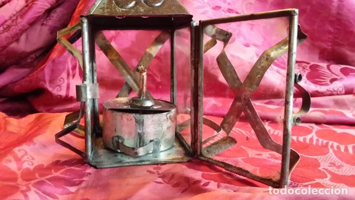 Antigüedades: Antiguo Farolillo Aceite. - Foto 4 - 195223948