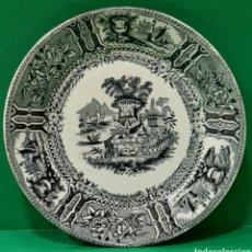 Antigüedades: PEQUEÑO PLATO LLANO DE SARGADELOS. MARCAS INCISAS AL DORSO. PERFECTO ESTADO.. Lote 195224468