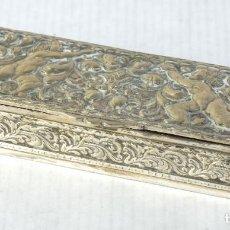 Antigüedades: PEQUEÑA CAJA EN PLATA PUNZONADA. Lote 195229006