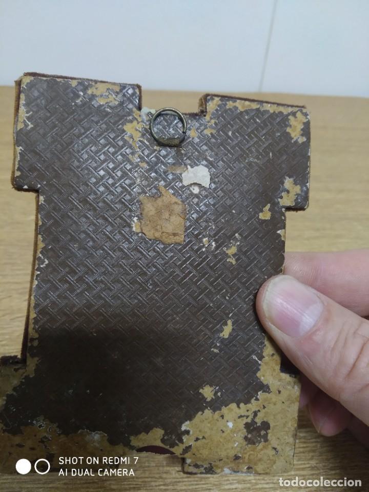 Antigüedades: Portafotos S-XIX terciopelo y bordado - Foto 3 - 195235455