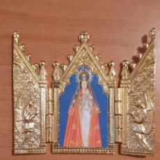 Antigüedades: PEQUEÑO RELICARIO DE VIAJE. Lote 195235631