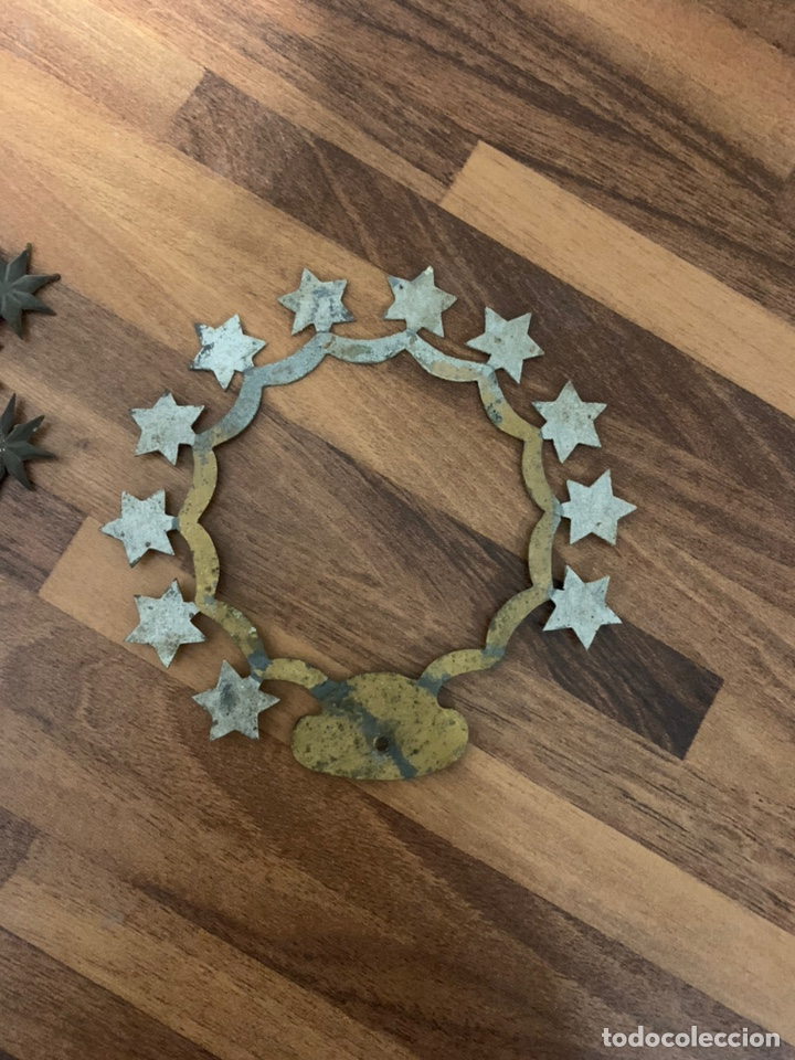 Antigüedades: Corona de estrellas de latón sXIX - Foto 2 - 195235762