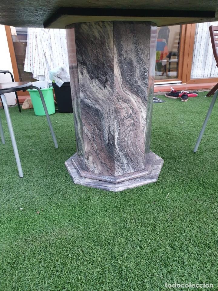 Antigüedades: impresionante mesa de marmol octogonal - Foto 3 - 195236545